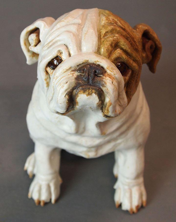 joanne cook Clay Dog sculpture, Dog art, British bulldog