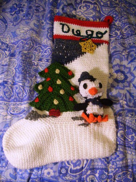 Crochet Parfait: Amigurumi Penguin Christmas Stocking | Christmas ...