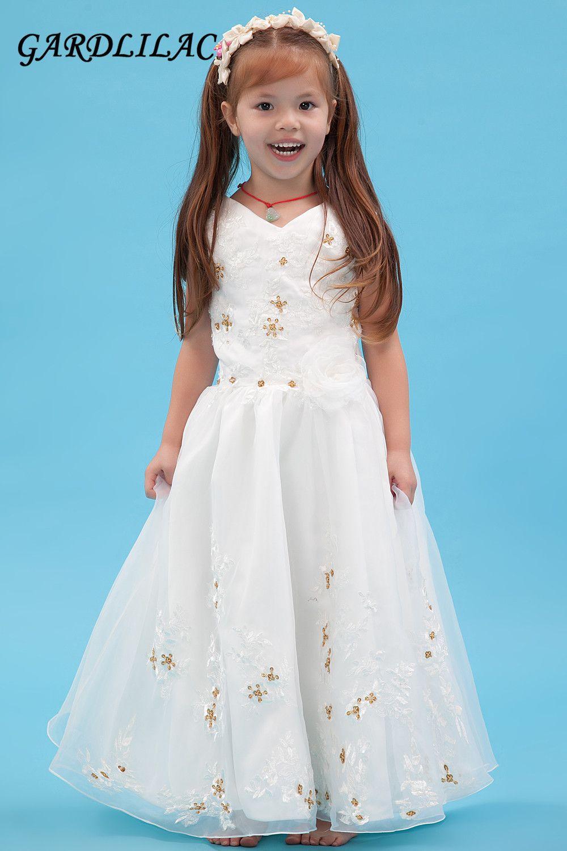 Free Shipping] Buy Best 2017 white flower girl dress beading ...