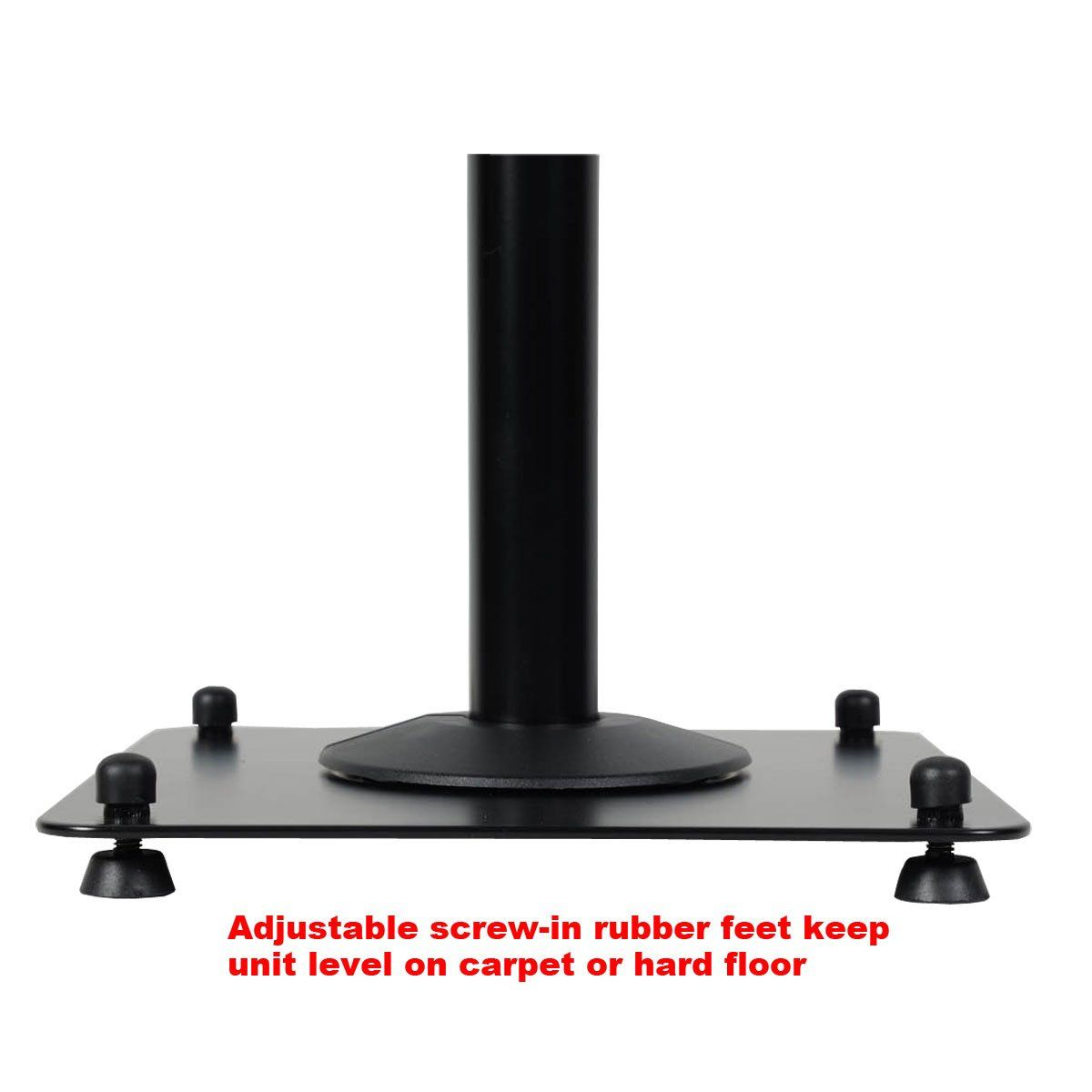 VideoSecu 2 Heavy duty PA DJ Club Adjustable Height Satellite Speaker Stand to