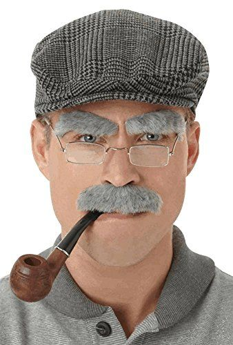 Stylish Old Man Eyebrows Mustaches Set Fancy Dress Costume Party Props