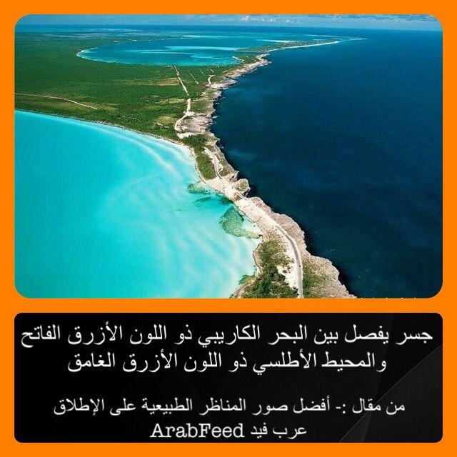 جسر يفصل بين البحر الكاريبي ذو اللون الأزرق الفاتح والمحيط الأطلسي ذو اللون الأزرق الغامق Outdoor Beach Water