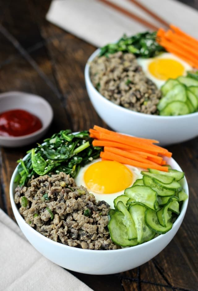 Korean rice bowls with turkey and mushrooms recipe korean rice korean rice bowls with turkey and mushrooms recipe korean rice rice bowls and korean forumfinder Choice Image