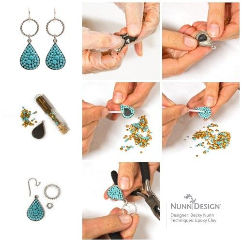 Ornate Tag Earrings Tutorial