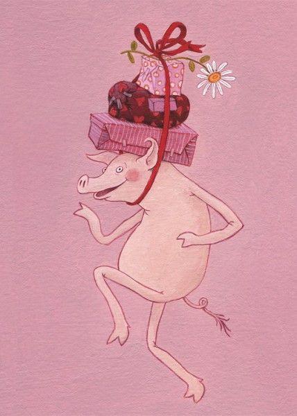 Geschenkeschwein Inkognito Niedliche Schweine Schwein Niedliche Illustration