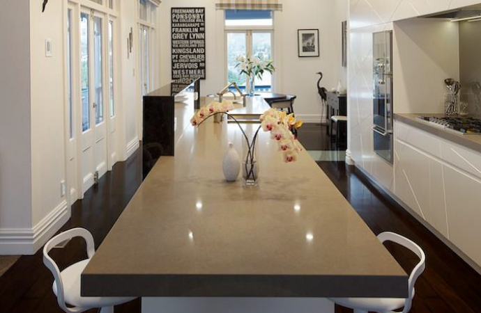 Residential Kitchen By Du Bois Design Featuring Caesarstone Ginger