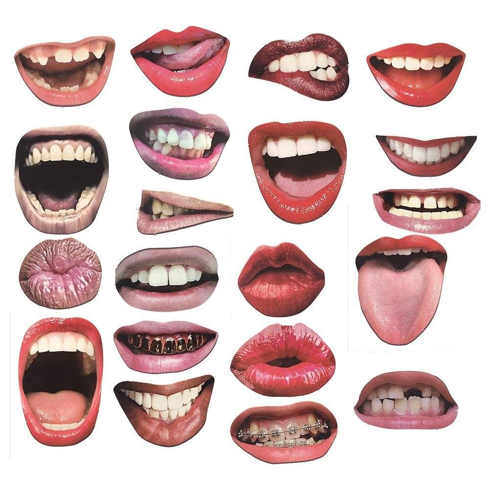 20 Lip Photo Booth Props on Sticks DIY Funny Mouth Realistic Party Graduation Props (20 Pieces - Mouth) - 20 Pieces - Mouth - CD18D6AW6X6,Event & Party Supplies, Shop By Collection, Favors, Shop By Events, Graduation, Favors  #Event #Party #Decoration #Favors