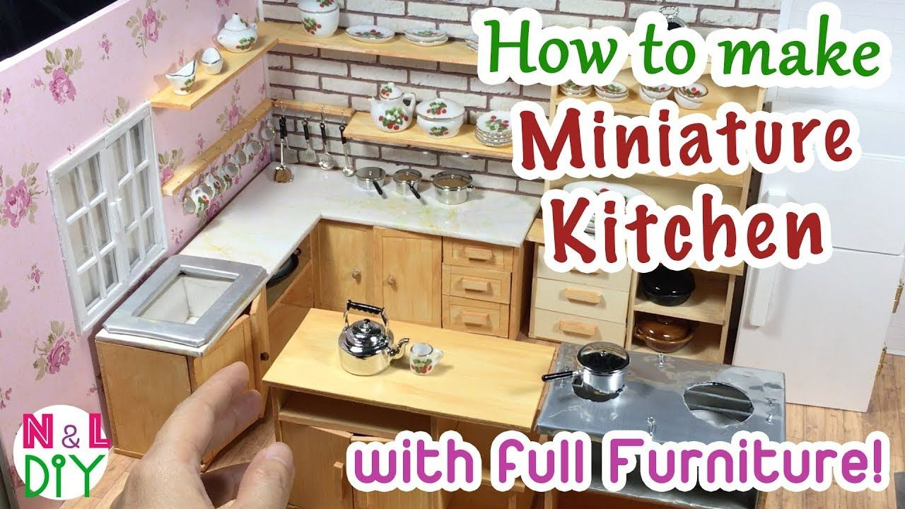 Diy Miniature Kitchen Room For Dollhouse How To Make A Miniature