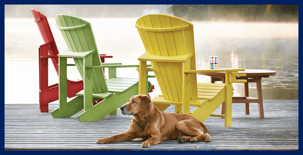 This summer I am really looking to improve my homes value, not necessarily for selling, just for me to be comfortable in it. I like the idea of getting patio furniture like these colorful chairs. I think chairs like these would go great with the light pastel blue color of my home. Definitely something I'll have to keep in mind.