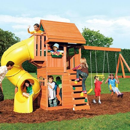 Big Backyard By Solowave® Grandview Deluxe Play System  Slide
