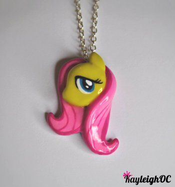 My little pony fluttershy necklace by kayleighoc on deviantart my little pony fluttershy necklace aloadofball Gallery