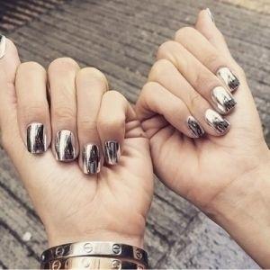 маникюр, ногти, дизайн ногтей, металлический маникюр, металлик ногти, маникюр <i>втирка для дизайна маникюра</i> с фольгой, втирка