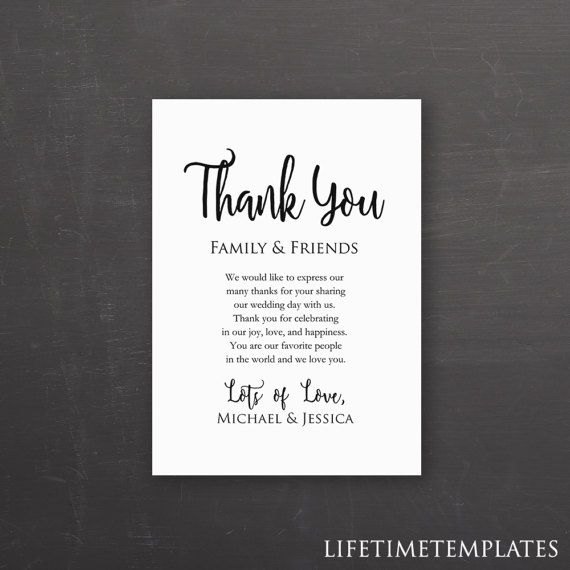 Download This Elegantly Designed Wedding Thank You Card Template