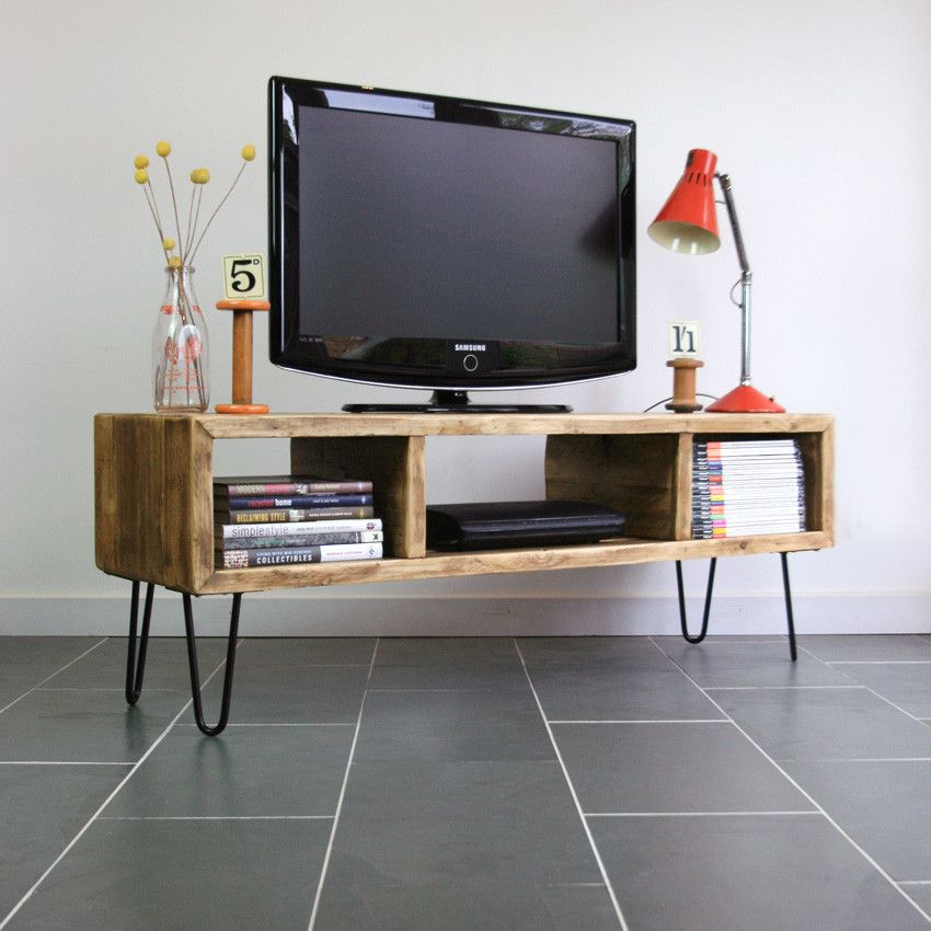 Modern Rustic Hairpin Leg Media Cabinet Made To Order