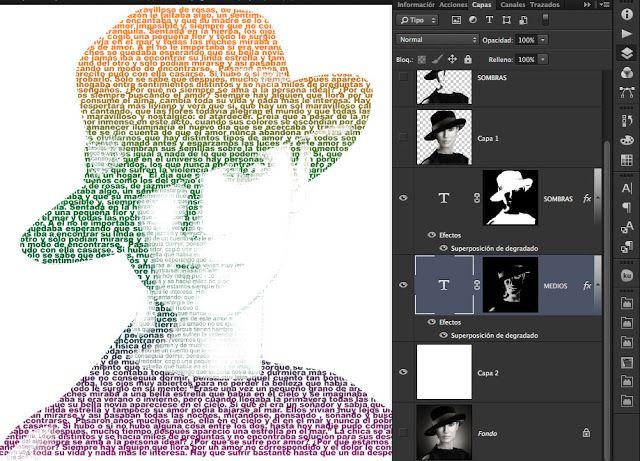 Como Hacer Un Retrato Relleno De Texto En Adobe Photoshop Tutoriales Photoshop Photoshop Fondos De Photoshop