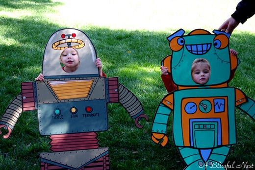 """ha even better  Josh could make some cool ones  they could even pose with the """"real robot"""" too"""