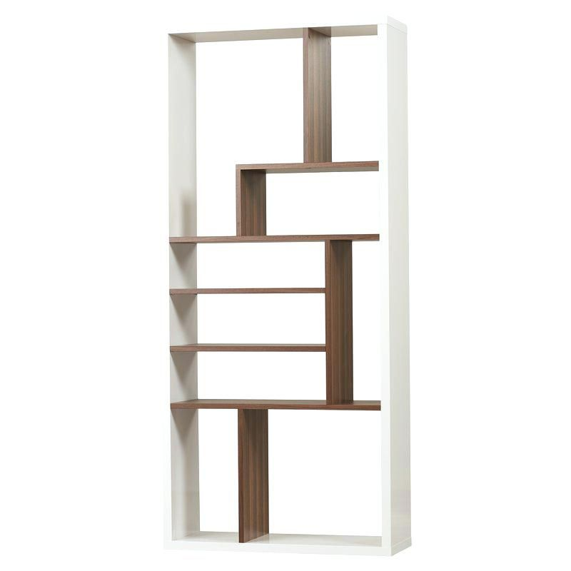 Bookcase Dark Wood Cube Shelving Unit Shelves Default Name Wooden