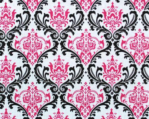 Black And Pink Wallpaper Pink Damask Damask Damask Print
