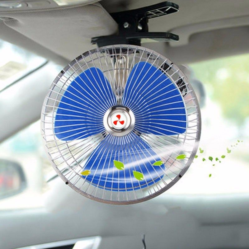 2018 New 12v Powered Portable Auto Vehicle Car Fan Oscillating Cooling Fans With Clip Oscillating Fans Cooling Fan Tiny Spaces