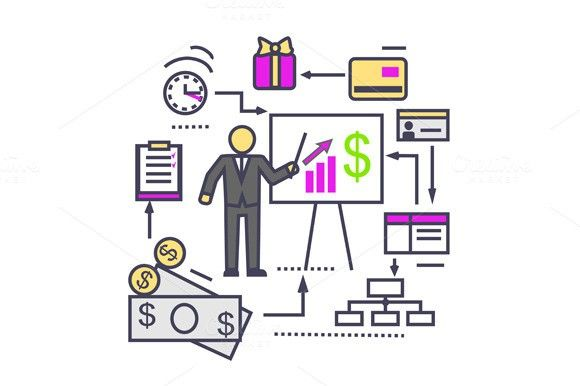 Concept Of Financial Analysis Icon   Business Infographic