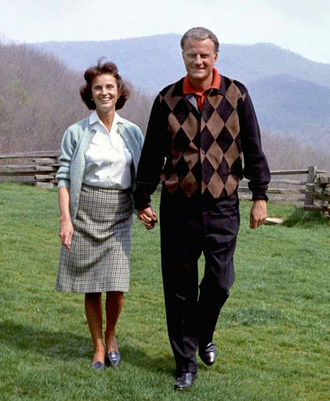 In their prime! Ruth and Billy Graham! Great Americans!