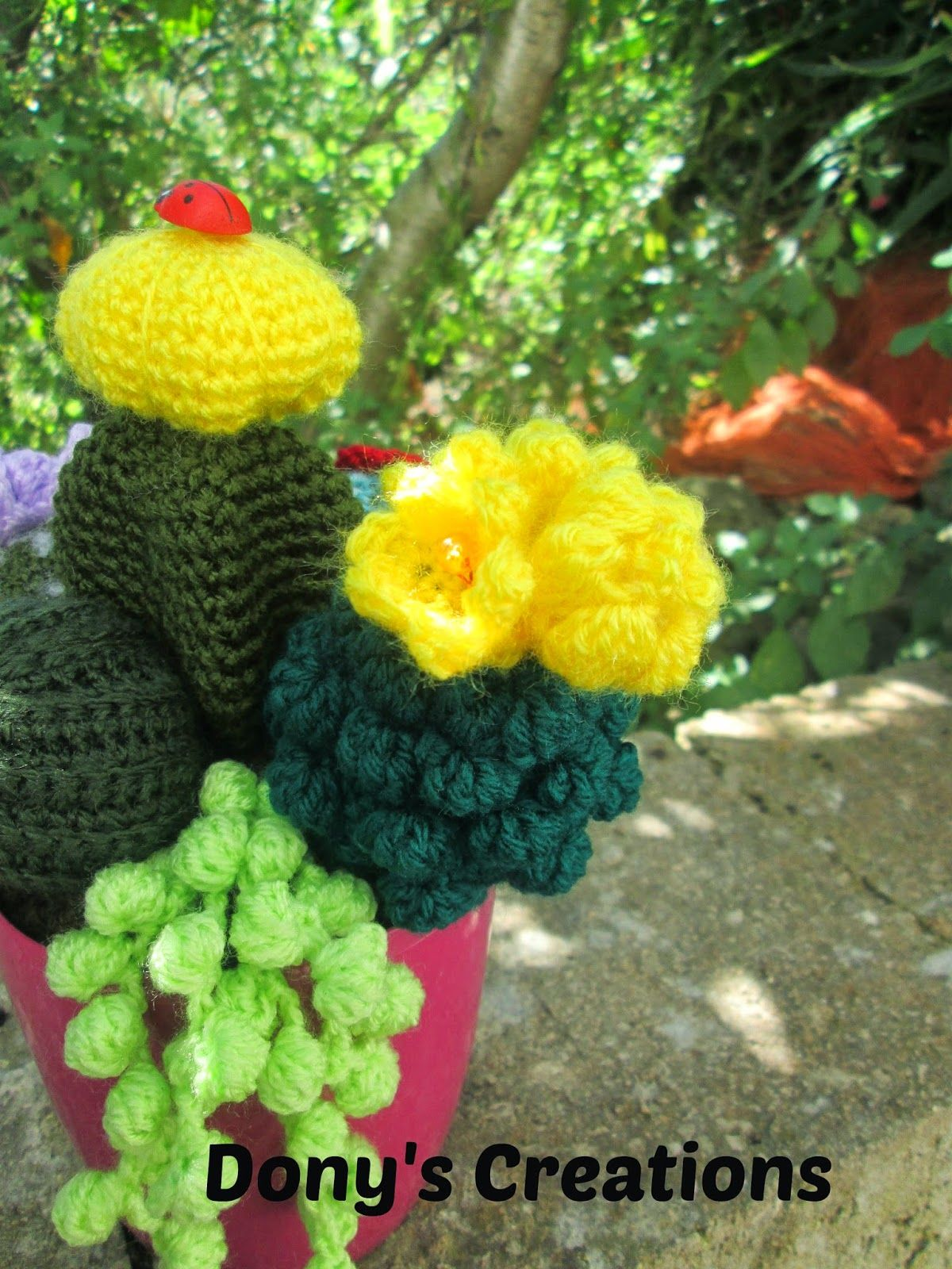 Crochet cactus _ pattern free italiano http://donyscreations ...