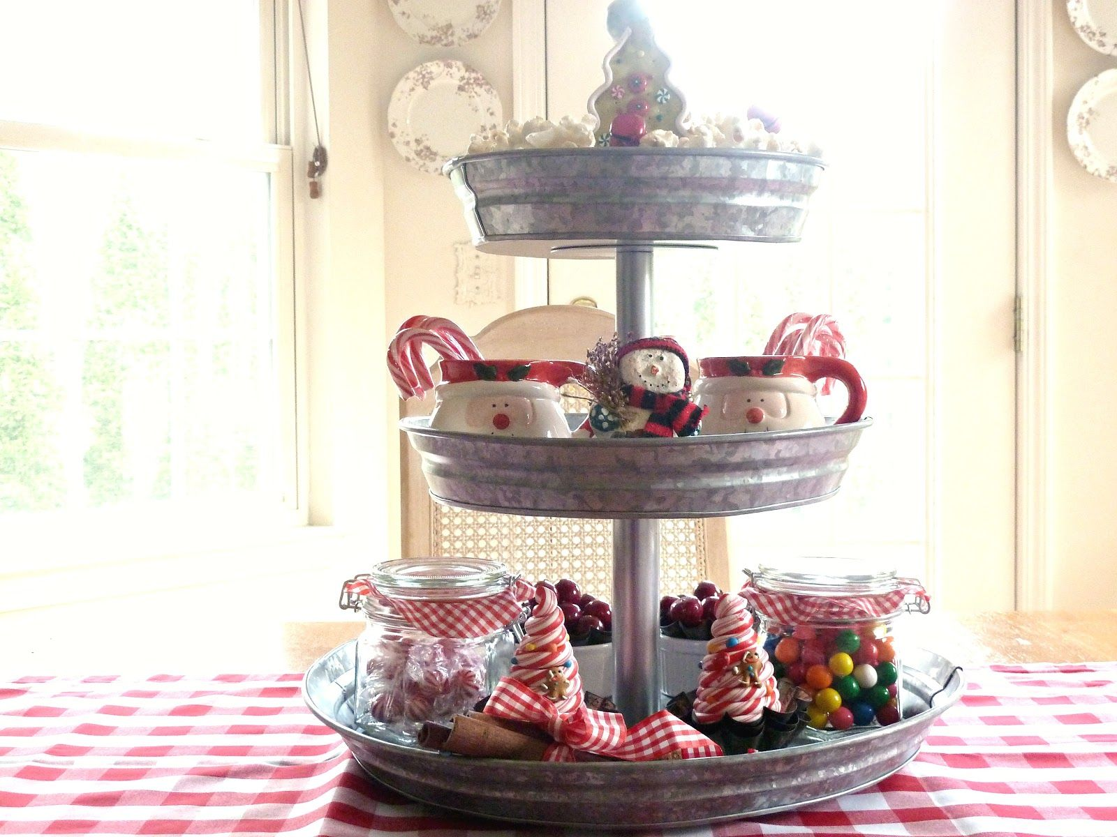 Kate's Place: Galvanized Tiered Tray