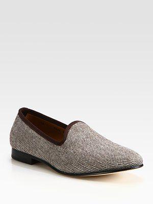 Del Toro Herringbone Slipper Shoe
