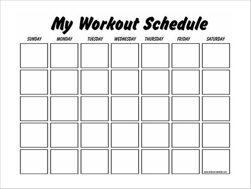 Workout Calendar Template #workout #workoutplans #workoutcalendar
