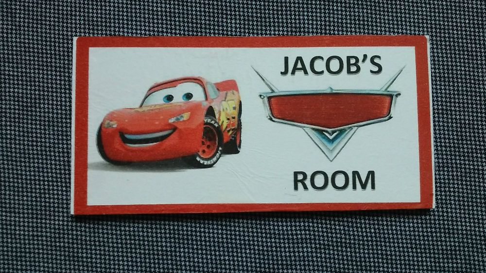 Cars Personalised Name PlaqueDoorWall Sign Childrens Wall And -  signs of cars with names