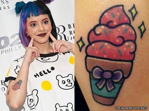 melanie-martinez-ice-cream-cone-tattoo