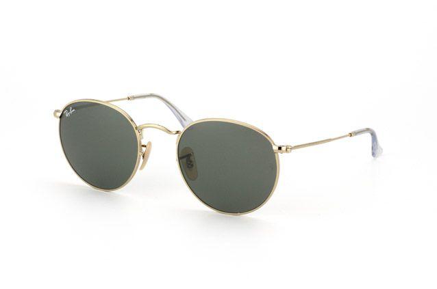 Ray Ban Round Metal Rb 3447 001 Vista En Perspectiva Gafas De Sol Gafas Gafas Mujer