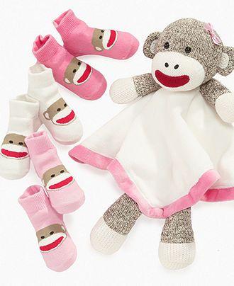 Baby Starter Toys Baby Girls Sock Monkey Sock Set Kids Newborn
