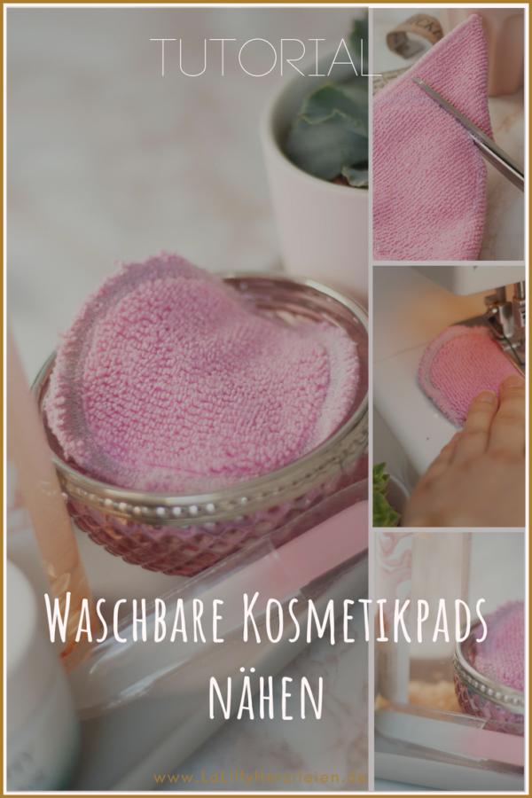 Waschbare Kosmetikpads nähen - Tutorial | LaLilly Herzileien