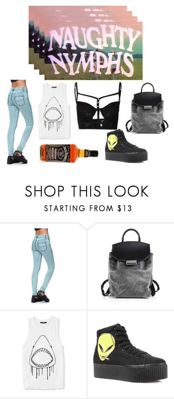"""Nymphet//rz"" by uncertain ❤ liked on Polyvore featuring Bullhead Denim Co., Alexander Wang, Forever 21, Jeffrey Campbell and Topshop"