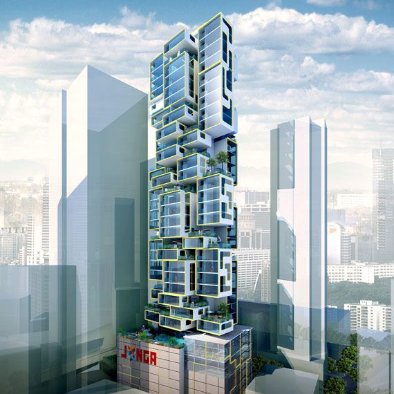 Jenga Tower In Hong Kong By James Law Cybertecture