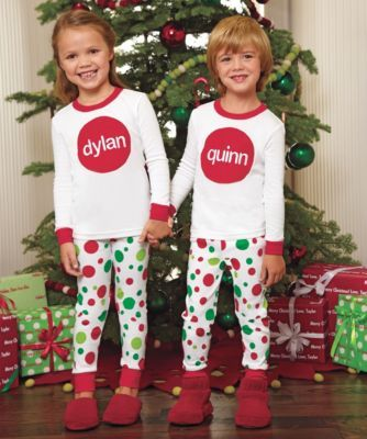 kids personalized holiday dot pj s  5d8631689