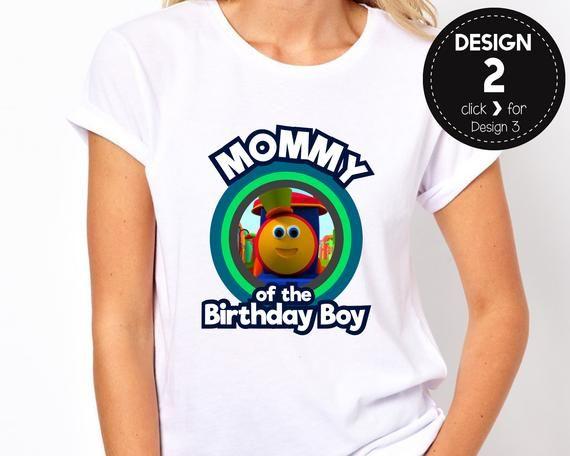 Bob The Train Mommy Of Birthday Boy Mom Mother Tshirt Tee Shirt Iron On Transfer