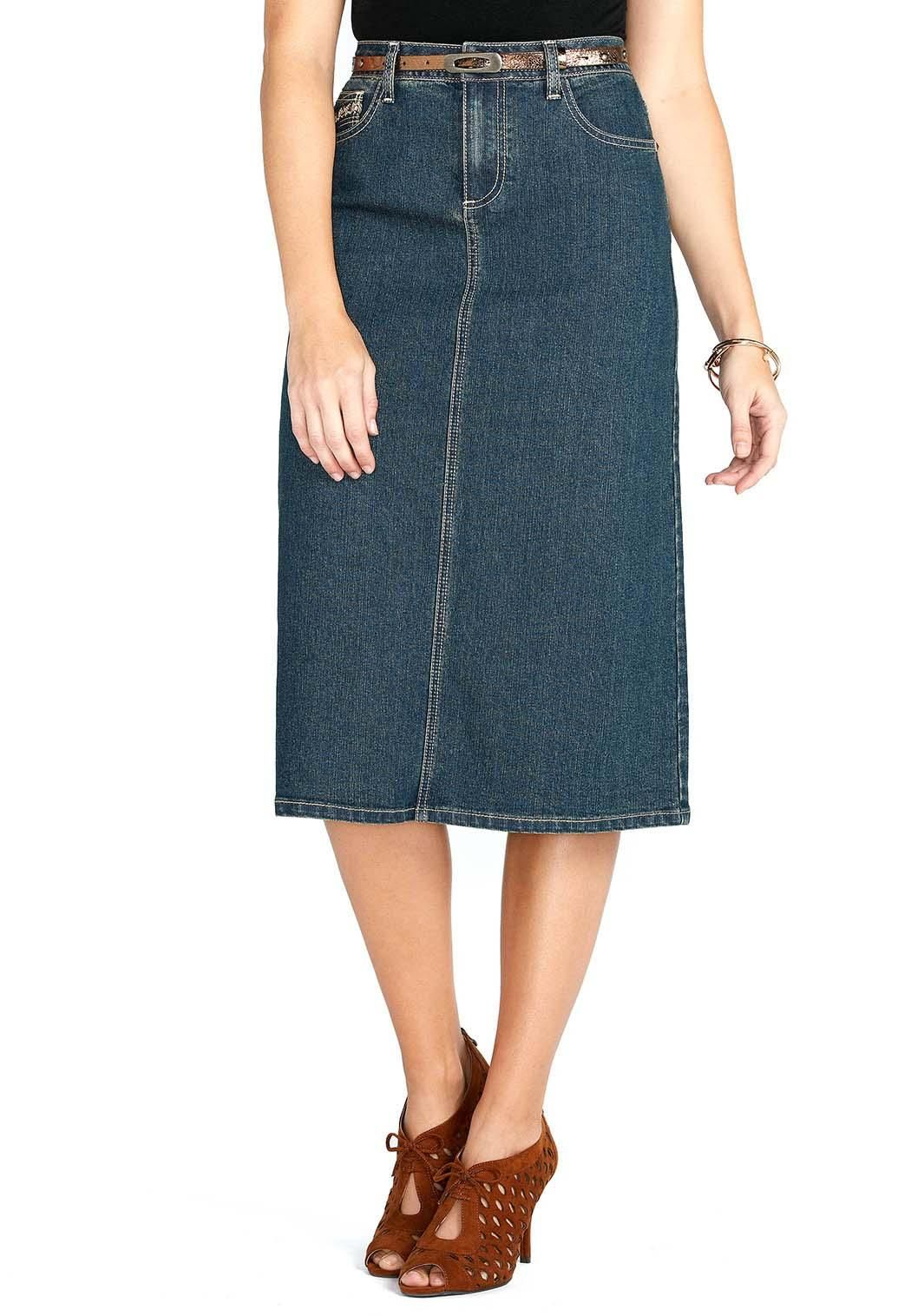 a2a9d789e01 Stud Embellished Belted Denim Skirt Skirts Cato Fashions