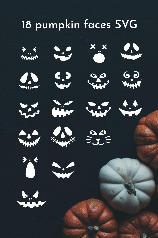Pumpkin faces SVG. Halloween Face. Jack o lantern faces