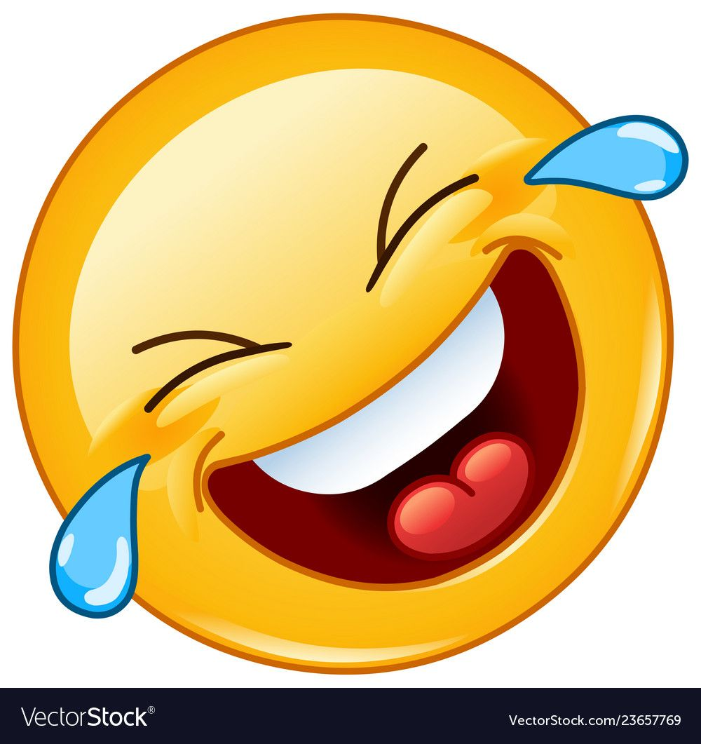 Rolling On The Floor Laughing With Tears Emoticon Vector Image On Vectorstock Laughing Emoji Emoji Pictures Emoticon