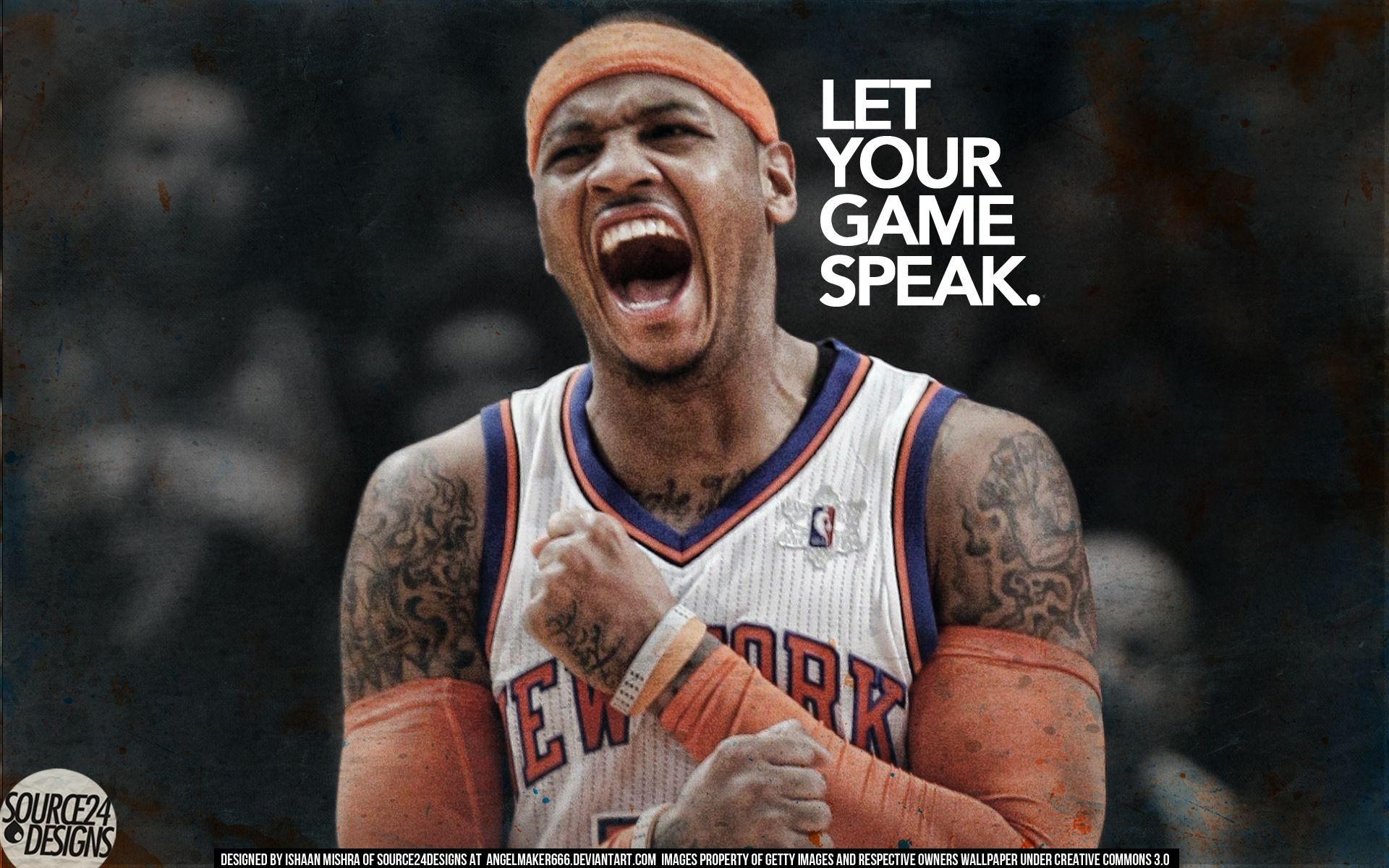 Carmelo anthony carmelo anthony let your game speak wallpaper by carmelo anthony let your game speak wallpaper voltagebd Images