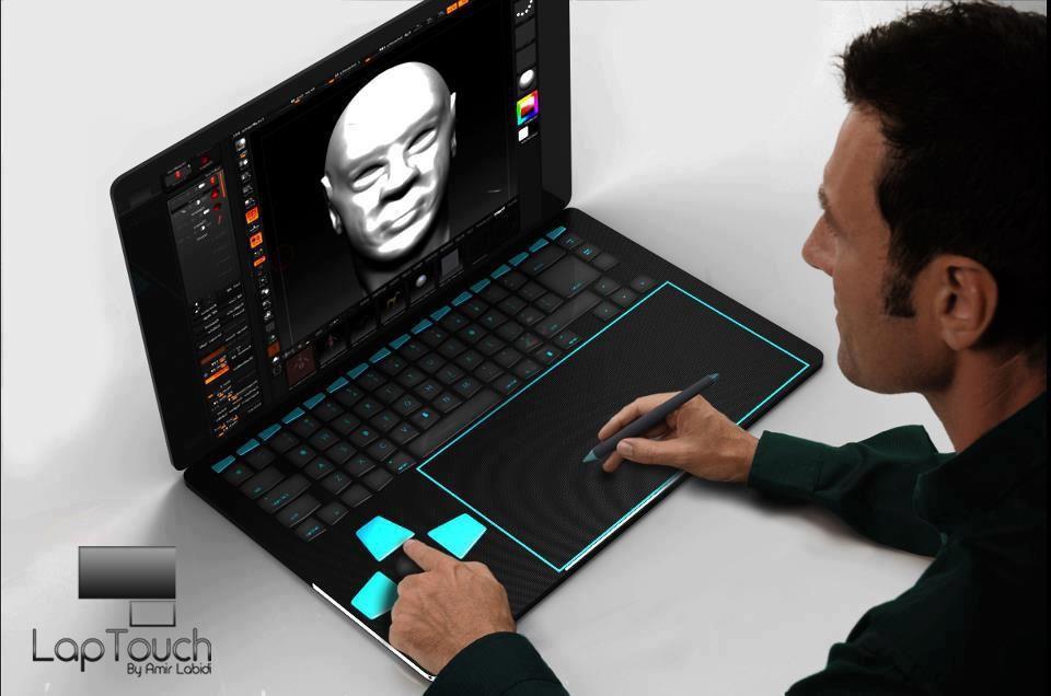 For artists designers laptouch concept laptop design