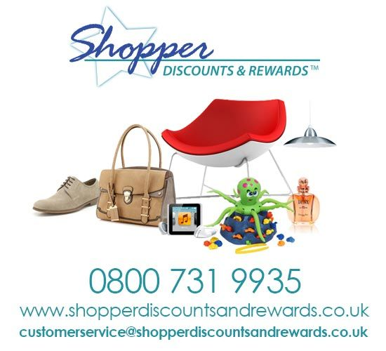 contact the shopper discounts and rewards team on 0800 731 9935