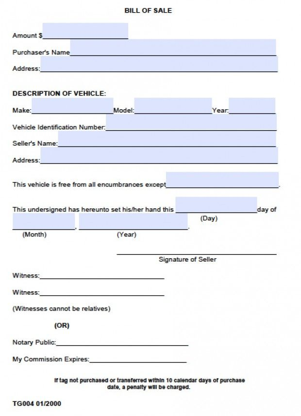 Printable Sample Bill Of Sale Alabama Form Template for Real