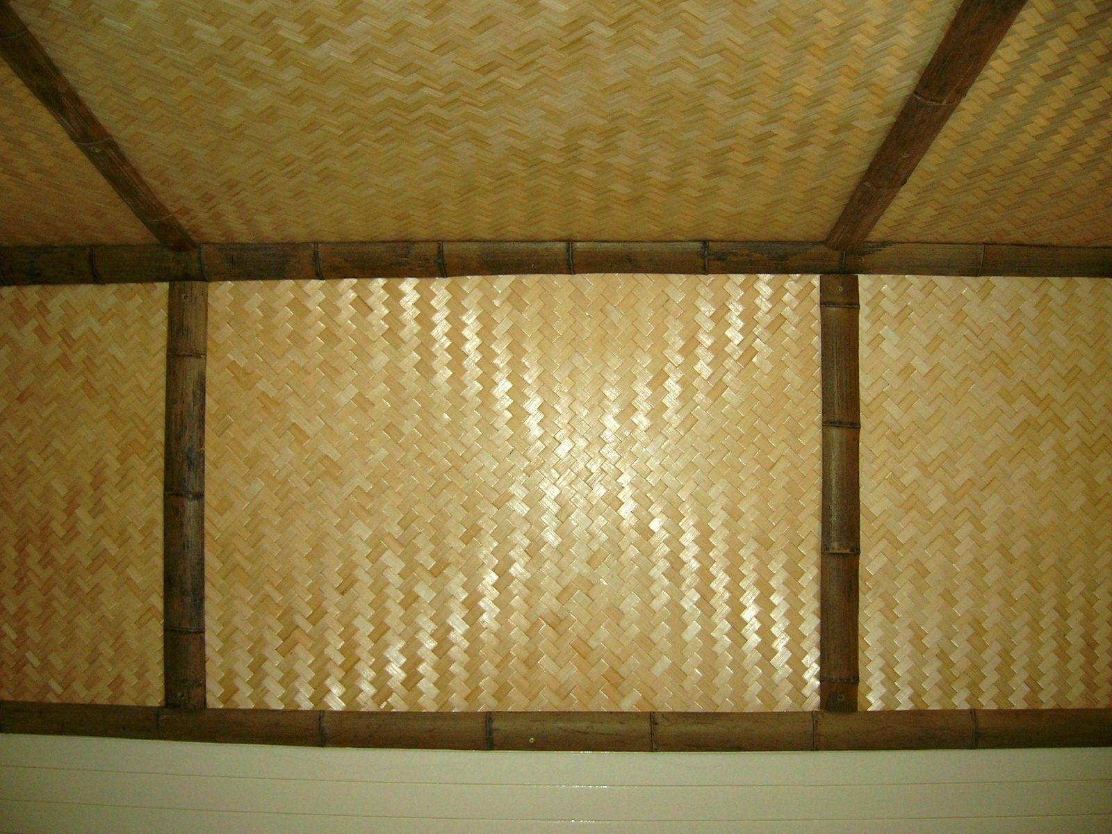 Bamboo Matting Ceiling