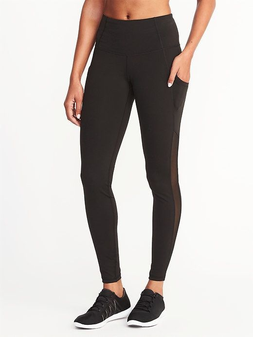 93ea8921857208 Old Navy Mid-Rise Mesh-Pocket Compression Leggings for Women Size Small