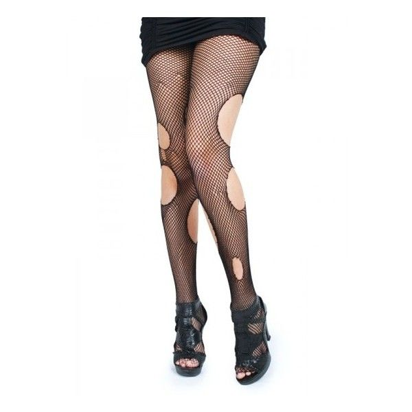 1384704e314e4 liked on Polyvore featuring intimates, hosiery, tights, pants, bottoms,  socks, tights & leggings, black tights, ripped fishnet stockings and ripped  tights