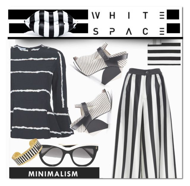 """""""Black and white  - modern edge"""" by tanyaf1 on Polyvore featuring STELLA McCARTNEY, Pottery Barn, 10 Crosby Derek Lam, Tome, Abcense, Évocateur and modern"""