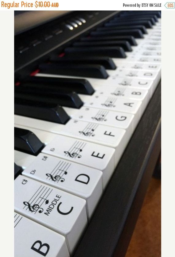Piano Stickers Standard Keyboard Piano Stickers Up To 61 Keys The